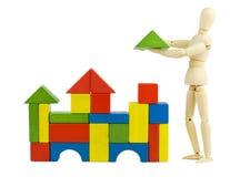 Het stuk speelgoed van de bouw Stock Foto's