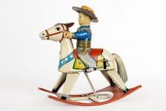 Het Stuk speelgoed van de Cowboy van het tin Stock Foto