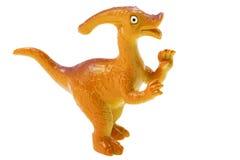 Het stuk speelgoed van de dinosaurus op witte achtergrond royalty-vrije stock afbeeldingen