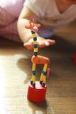 Het stuk speelgoed van de giraf Stock Foto