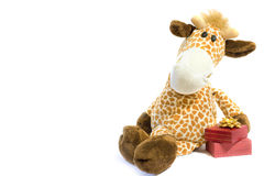 Het stuk speelgoed van de giraf stock foto's