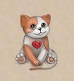Het stuk speelgoed van de kat illustratie Stock Afbeeldingen
