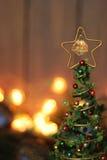 Het stuk speelgoed van de kerstboomdecoratie, plaats voor tekst Royalty-vrije Stock Foto's