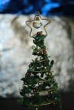 Het stuk speelgoed van de kerstboomdecoratie, plaats voor tekst Stock Fotografie