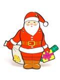 Het stuk speelgoed van de Kerstman royalty-vrije stock foto's