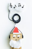 Het stuk speelgoed van de Kerstman en de muziekwolk Royalty-vrije Stock Afbeeldingen