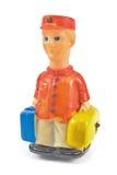 Het stuk speelgoed van de piccolo met luggages stock foto's
