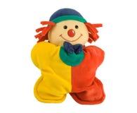 Het stuk speelgoed van de pluche clown Stock Fotografie