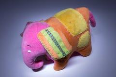 Het stuk speelgoed van de plucheolifant Royalty-vrije Stock Afbeelding