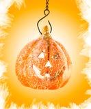 Het stuk speelgoed van de pompoen oranje Halloween partij stock afbeelding