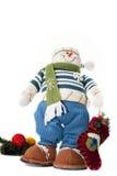 Het stuk speelgoed van de sneeuwman Stock Foto's