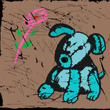 Het stuk speelgoed van de steek, hond, jong Royalty-vrije Stock Foto