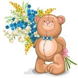 Het stuk speelgoed van de teddybeer Stock Afbeelding