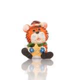 Het stuk speelgoed van de tijger beeldje royalty-vrije stock afbeelding