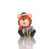 Het stuk speelgoed van de tijger beeldje royalty-vrije stock foto's