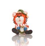 Het stuk speelgoed van de tijger beeldje royalty-vrije stock afbeeldingen