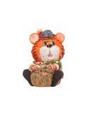 Het stuk speelgoed van de tijger beeldje royalty-vrije stock foto