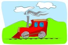 Het stuk speelgoed van de trein jonge geitjesillustratie Stock Afbeelding