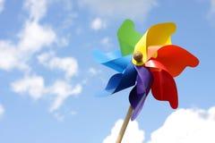 Het stuk speelgoed van de windmolen Royalty-vrije Stock Foto's