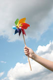 Het stuk speelgoed van de windmolen Stock Afbeelding