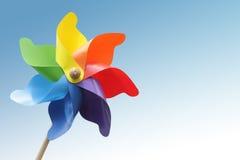 Het stuk speelgoed van de windmolen Stock Afbeeldingen