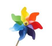 Het stuk speelgoed van de windmolen Stock Foto's