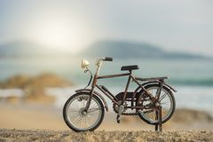 Het stuk speelgoed van het fietsvervoer Stock Afbeelding