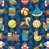 Het stuk speelgoed van het jonge geitje naadloos patroon Ontwerpelement voor prentbriefkaar, banner, vlieger vector illustratie
