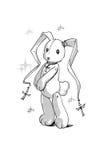 Het stuk speelgoed van het konijn. Stock Afbeeldingen