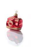 Het stuk speelgoed van het nieuwjaar in de vorm van de camera Stock Foto's