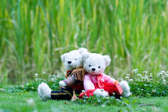 Het stuk speelgoed van het paar draagt Royalty-vrije Stock Afbeelding