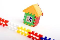 Het stuk speelgoed van het raadsel huis Royalty-vrije Stock Foto