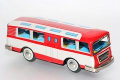 Het stuk speelgoed van het tin bus royalty-vrije stock afbeelding