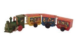 Het stuk speelgoed van het tin Trein Stock Afbeelding