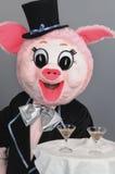 Het stuk speelgoed van het varken stock foto's