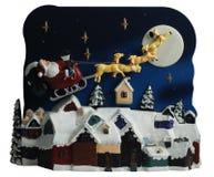 Het stuk speelgoed van Kerstmis scène Stock Foto