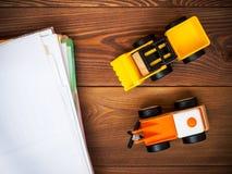 Het stuk speelgoed van kinderen op de vloer Stock Foto's