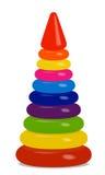 Het stuk speelgoed van kinderen piramide Stock Fotografie