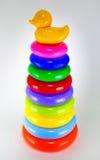 Het stuk speelgoed van kinderen, plastic het stapelen ring royalty-vrije stock foto