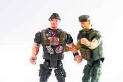 Het stuk speelgoed van militairen Stock Afbeelding