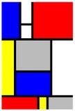 Het Stuk van de Kunst van Mondrian Stock Foto
