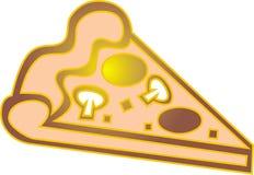 Het stuk van de pizza Stock Afbeelding