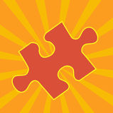 Het Stuk van de puzzel Stock Foto's