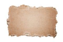 Het stuk van het karton stock afbeelding