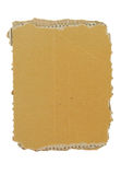 Het stuk van het karton op wit stock fotografie