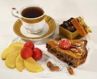 Het stuk van pastei met aardbei Royalty-vrije Stock Afbeelding