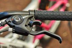Het stuurwiel van fietsdelen, versnellingshandel stock afbeeldingen