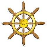 Het stuurwiel van het schip Royalty-vrije Stock Foto's