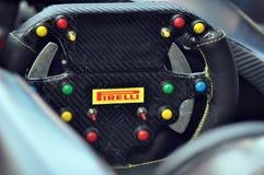 Het Stuurwiel van Pirelli Stock Fotografie