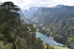 Het Suši?ko-meer en de Sušica-vallei stock afbeelding